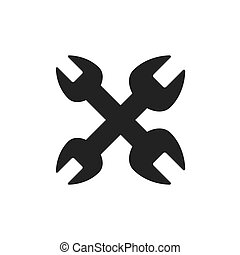 wrench tool construction machine industry icon. Vector graphic