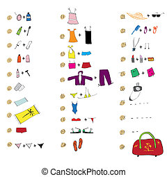 List of clothes for travel. See also similar work in my...