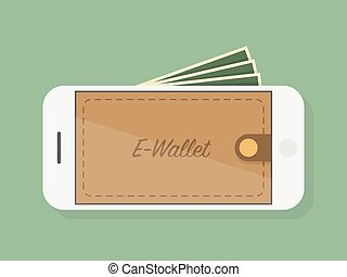 E Wallet. Concept Illustration.