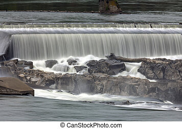 Willamette Falls Closeup - Willamette Falls Along Willamette...