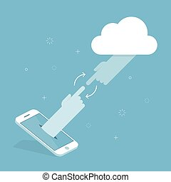 Cloud Technology. Concept Illustration.