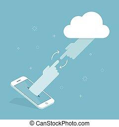 Cloud Technology. Concept Illustration.