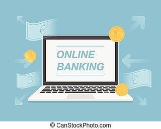 Online banking Vector Clip Art Royalty Free. 12,304 Online ...