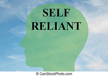 Self Reliant - mental concept - Render illustration of SELF...
