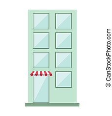 building store construction silhouette icon vector isolated...