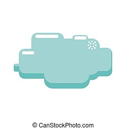 cloud pixel video game play icon Vector graphic - cloud...