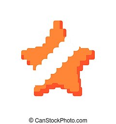 star pixel video game play icon Vector graphic - star pixel...