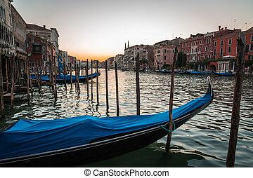 Sunrise in Venice on the Grand Canal