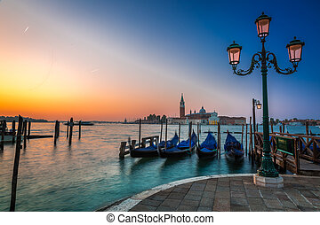 Sunrise over the Grand Canal in Venice