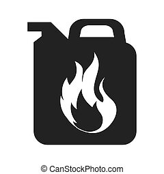 tank container fuel icon vector illustration design