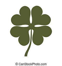 clover leaf luck saint patrick icon vector illustration...