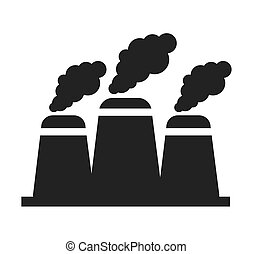 nuclear plant chimney icon vector illustration design