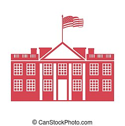 building governmental usa icon vector illustration design