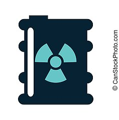 tank container nuclear icon vector illustration design