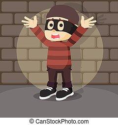 thief get caught illustration design