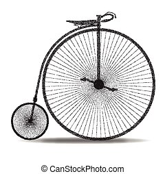Penny Farthing Dot Silhouette - A typical penny farthing...
