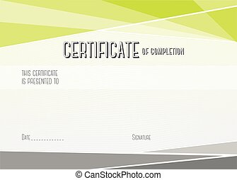 Modern Certificate of completion. Vector template -...