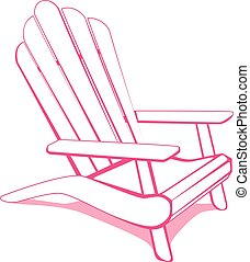 Adirondack beach chair - Adirondack Beach chair. White and...