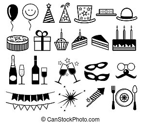 Celebration, party vector icons