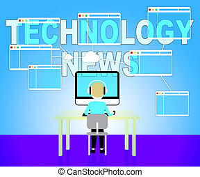Technology News Shows Newspaper Headlines And Technologies