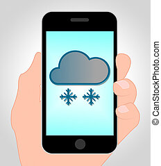 Snow Forecast Online Means Bad Weather And Internet - Snow...