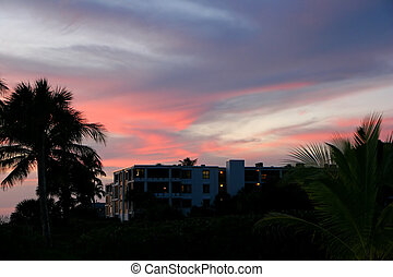 Oceanfront Beach Condominium Sunset Sanibel Island Florida