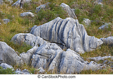 Eroded rocks