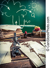 Vintage lesson biology and photosynthesis