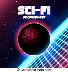 retro sci-fi background