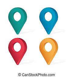 Set color maping pin location 3d