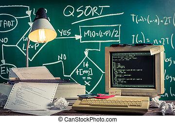 Vintage methods of programming at school