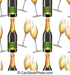 Seamless background with champagne