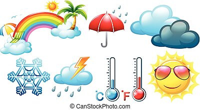 Different icons for weather and climate