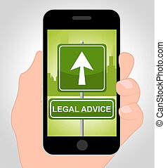 Legal Advice Online Indicates Mobile Phone And Cellphone -...