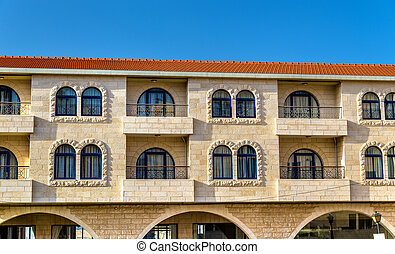 Buildings in the city centre of Bethlehem - Palestine