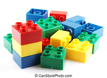 Plastic building block