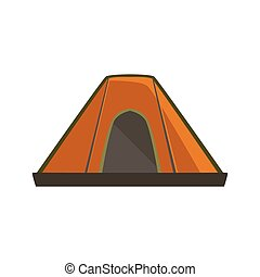 Orange Tarpaulin Camping Tent Bright Color Cartoon Simple...