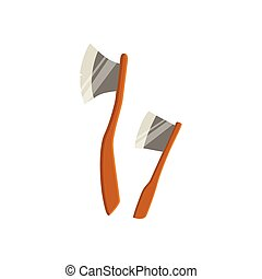 Two Axes For Chopping Wood Camping - Two Axes For Chopping...
