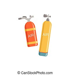 Two Types Of Air Tanks For Diving