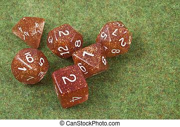 Full set of dice