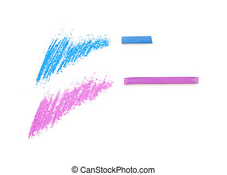 pastel color tests ad pieces of pastel sticks isolated