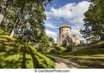 Ruins of Cesis Castle, Latvia - Ruins of medieval Cesis...
