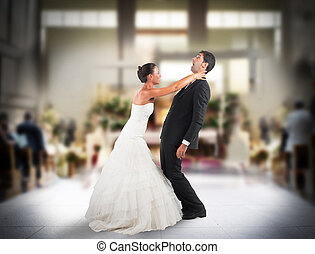 Bad marriage - Angry wife strangles frightened groom in...