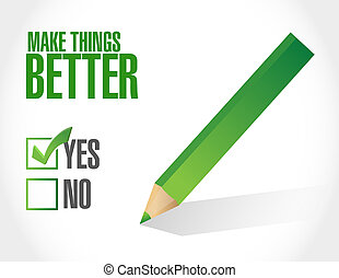 Make Things Better approval sign concept illustration design...