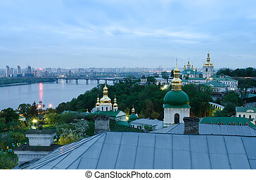 View of the Kiev Pechersk Lavra, Ukraine, Europe - Ukrainian...