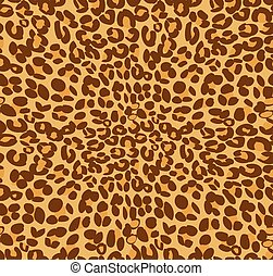 Leopard print and skin background, vector