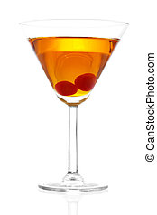 Manhattan Cocktail - Stock image of Manhattan cocktail on...