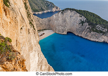 Navagio Shipwreck beach, Zakynthos - Sunset at Navagio...