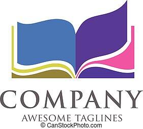 creative open book logo vector