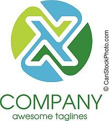 Letter X color concept - Letter X color elegant Alphabetical...